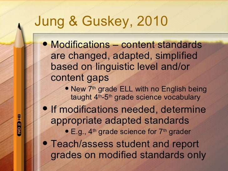 What are the ramifications of modified grading at the high school level?