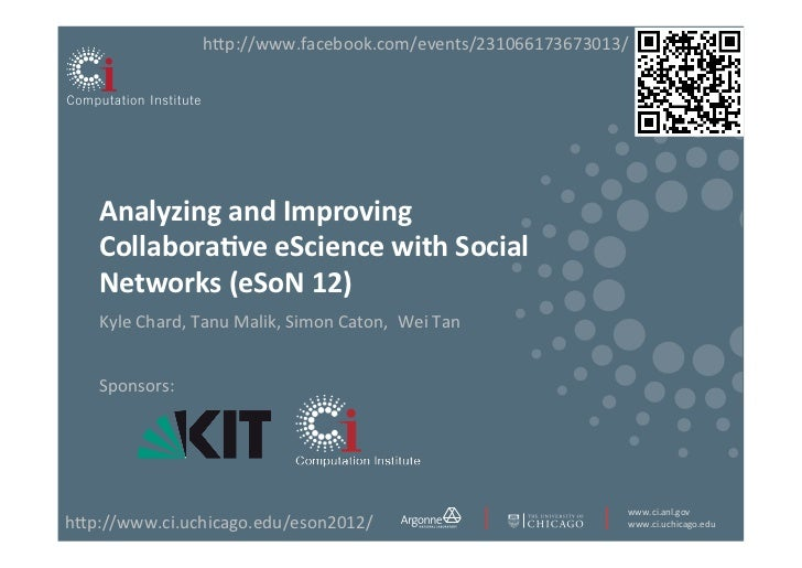 h<p://www.facebook.com/events/231066173673013/     Analyzing and Improving     Collabora3ve eScience with So...