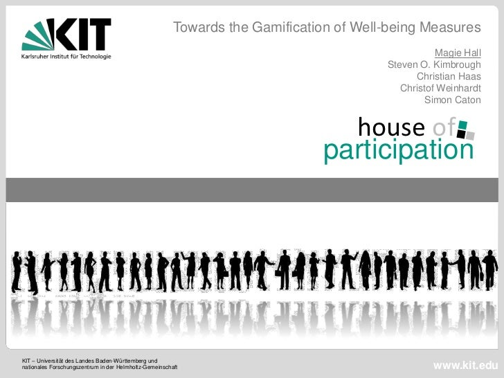 Towards the Gamification of Well-being Measures                                                                           ...
