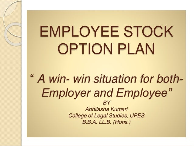 What is employee stock options