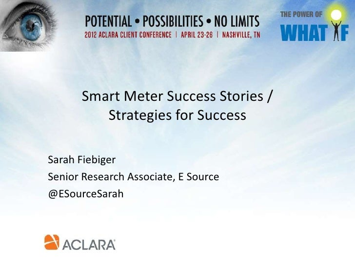Smart Meter Success Stories and Strategies for Success
