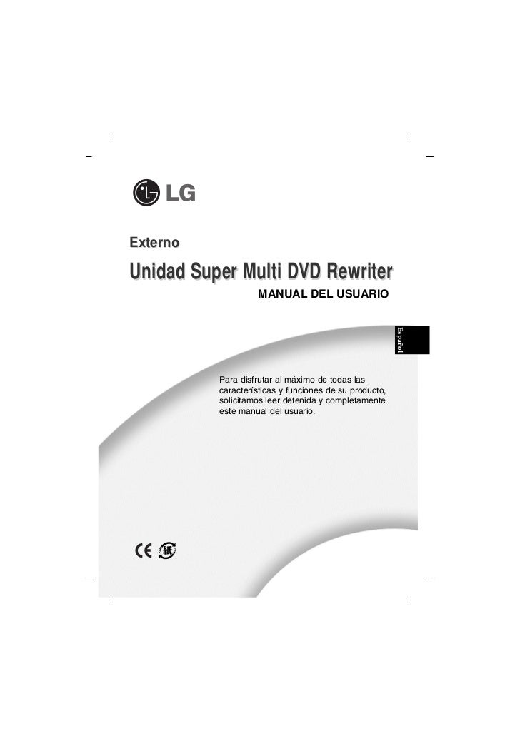 ExternoUnidad Super Multi DVD Rewriter                   MANUAL DEL USUARIO                                               ...