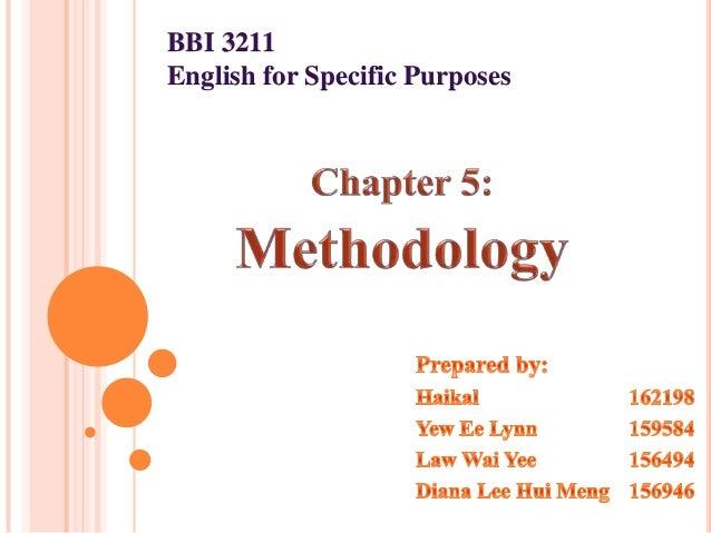 BBI 3211English for Specific Purposes