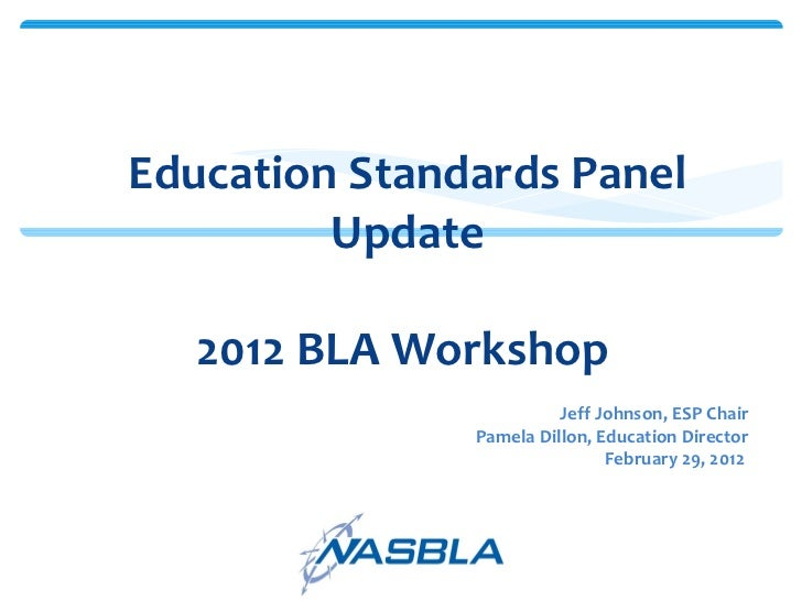 National Boating Education Standards Panel