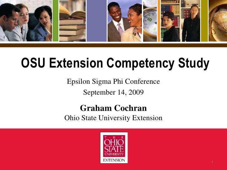 ESP 2009 Presentation - Ohio State University Extension Competency Study