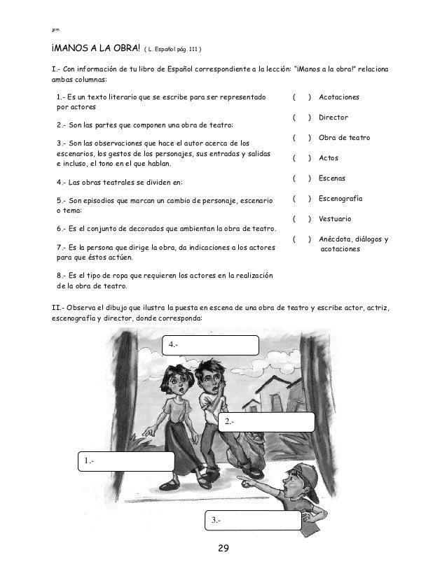 Espa ol sexto ejercicios para alumnos de sexto grado para for Licencia de obras cuando es necesaria