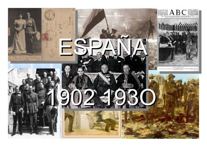 España 1er tercio siglo xx