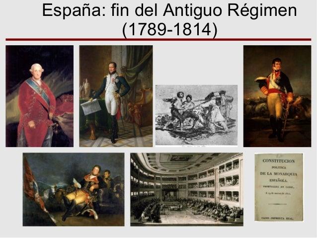 España: fin del Antiguo Régimen (1789-1814)