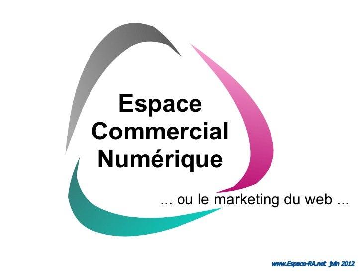 EspaceCommercialNumérique    ... ou le marketing du web ...                     www.Espace-RA.net juin 2012