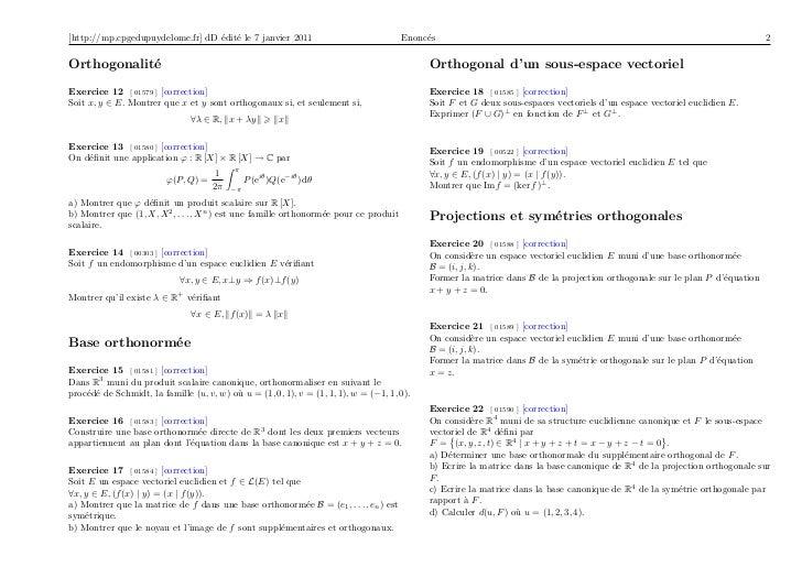 image de f espace vectoriel