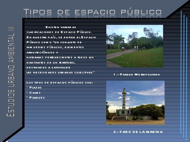 Espacio publico - Tipos de espacios ...