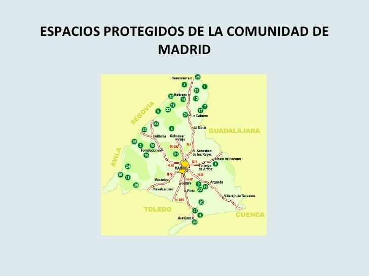 Espacios protegidos de la comunidad de madrid for Comunidad de madrid rea