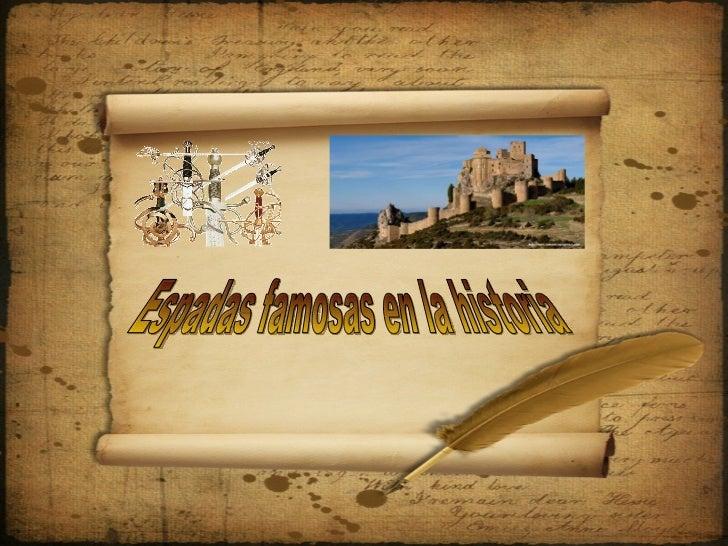 Espadas famosas en la historia