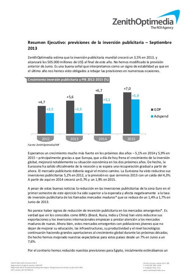 Esp adspend forecasts september 2013 executive summary