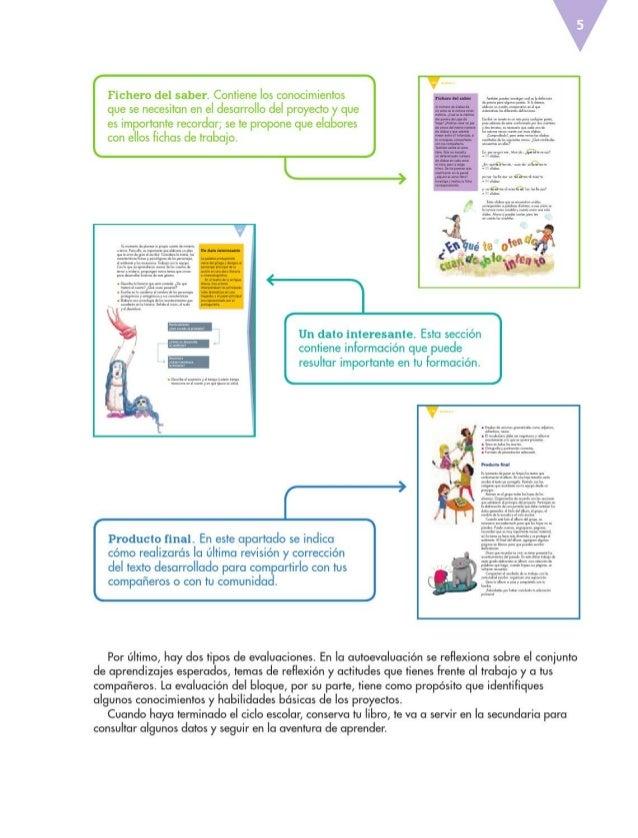 Libro De Texto Espanol 6to Grado Primaria 2014