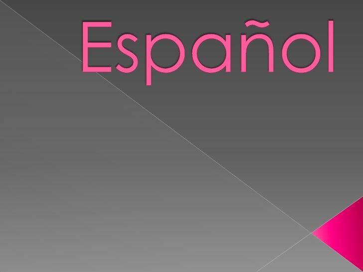 Español <br />