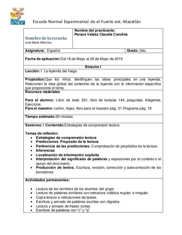 Escuela Normal Experimental de el Fuerte ext. Mazatlán Nombre de la escuela: José María Morelos Nombre del practicante: Pe...