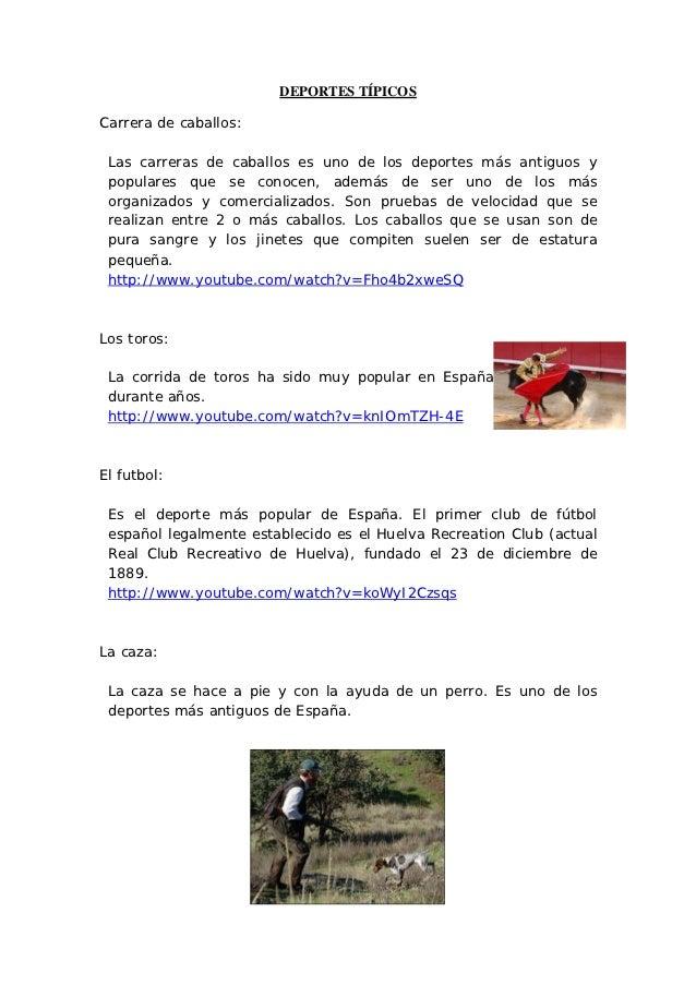 Deportes típicos Españoles