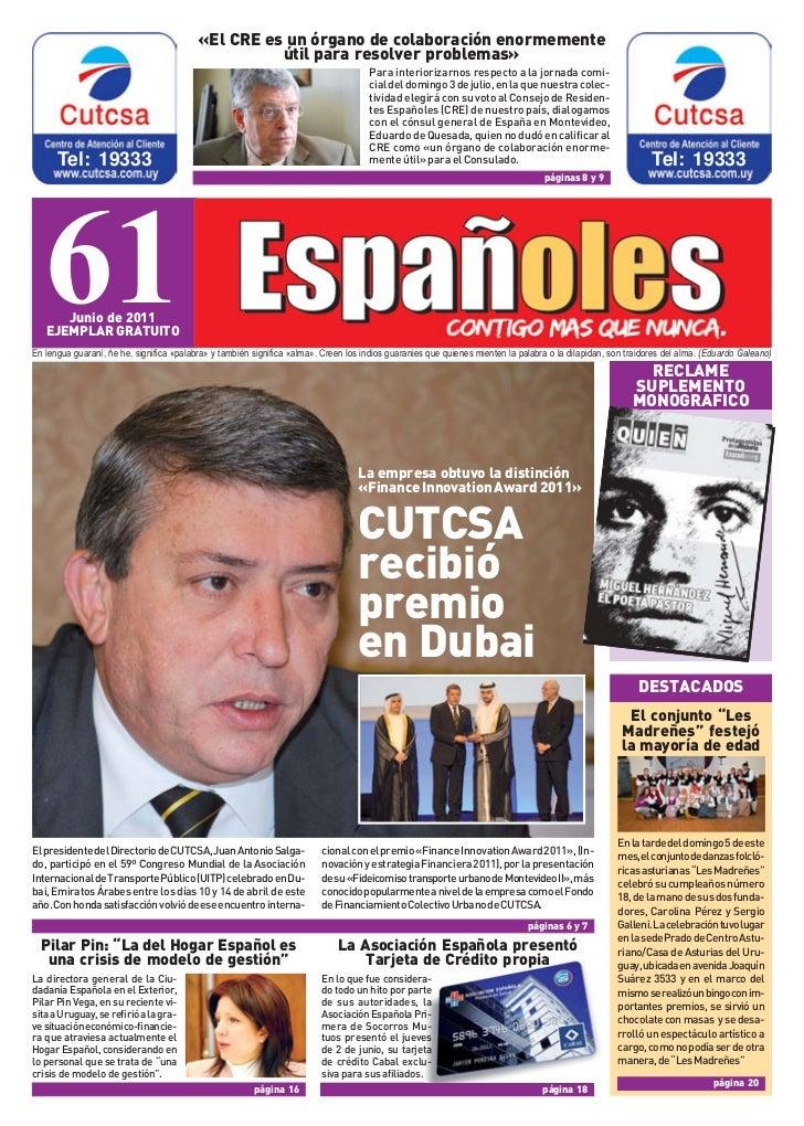 Revista Espanoles Nº61 Junio 2011