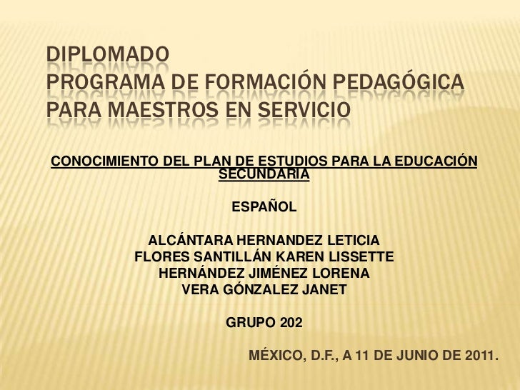 Español exposición diplomado