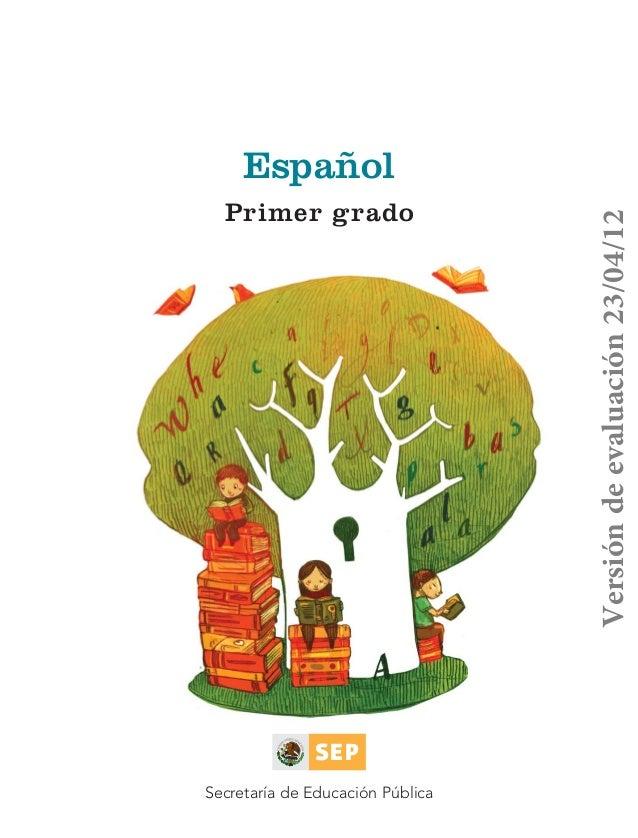 Español                            Primer grado                                                            Versión de eval...