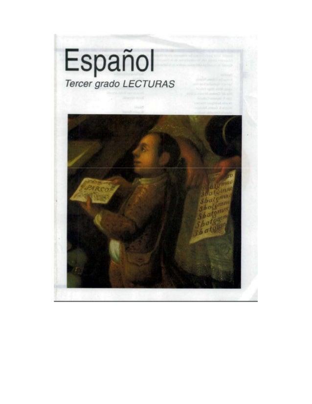 Libro De Espaol Tercer Grado Lecturas MEJOR CONJUNTO DE FRASES