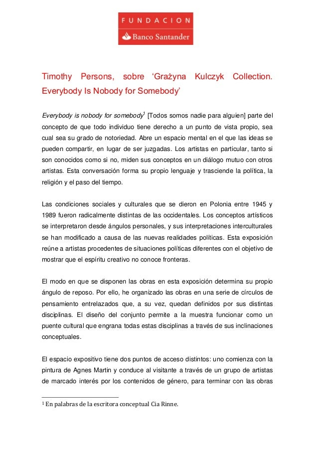 Timothy Persons, sobre 'Grażyna Kulczyk Collection. Everybody Is Nobody for Somebody'