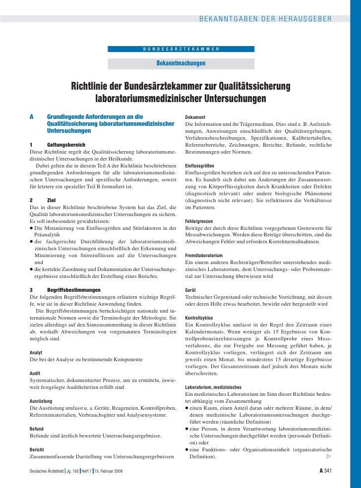 Especificacion de calidad. Legislación. Alemania 2008
