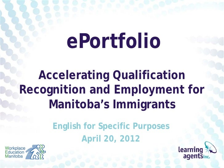 Career Portfolio Manitoba - English for Specific Purposes