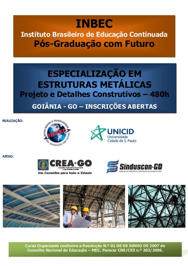 INBEC  Instituto Brasileiro de Educação Continuada  Pós-Graduação com Futuro  Curso Organizado conforme a Resolução N.º 01...