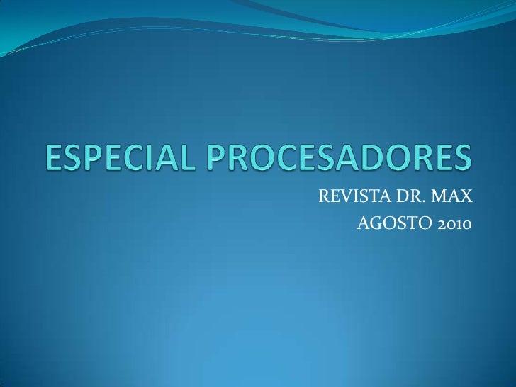 Especial procesadores