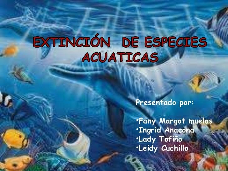 Especies acuaticas