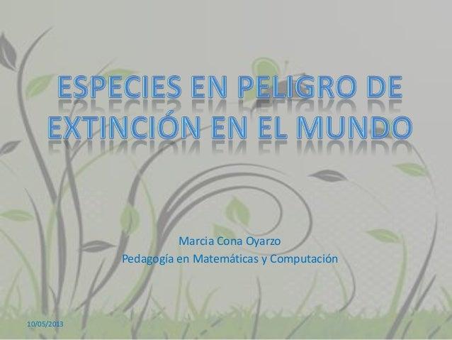 Marcia Cona OyarzoPedagogía en Matemáticas y Computación10/05/2013