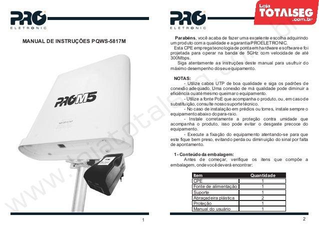 MANUAL DE INSTRUÇÕES PQWS-5817M21Parabéns, você acaba de fazer uma excelente escolha adquirindoum produto com a qualidade ...