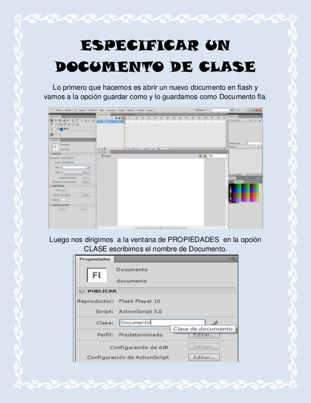 Especificar un documento de clase