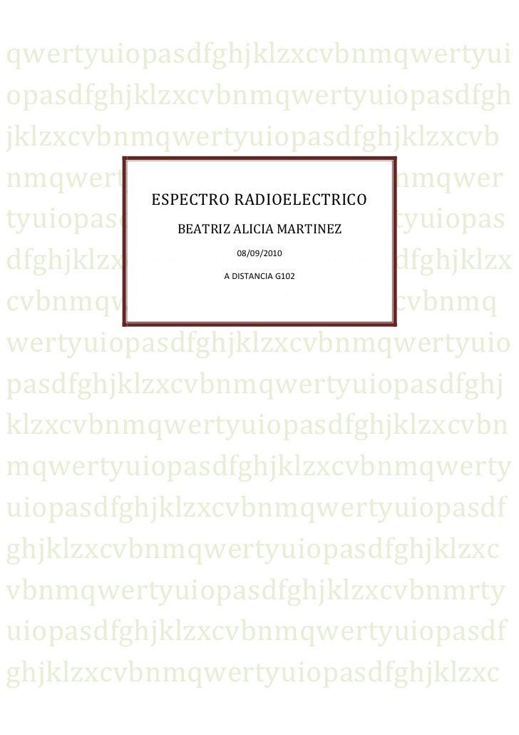 Espectro redioelectrico
