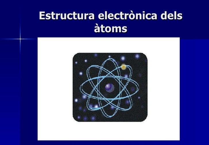 Estructura electrònica dels àtoms