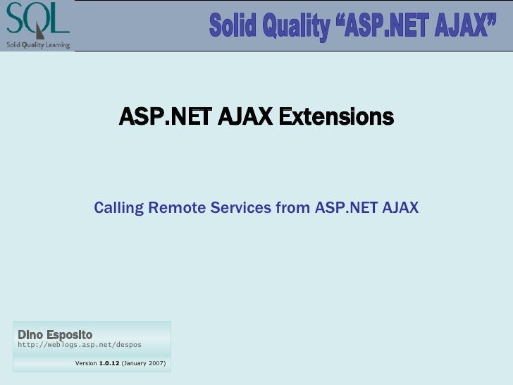 ASP.NET AJAX Extensions Calling Remote Services from ASP.NET AJAX
