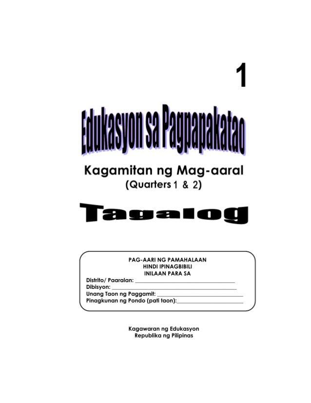 TO 12 GRADE 1 LEARNING MATERIAL IN EDUKASYON SA PAGPAPAKATAO (Q1-Q2)