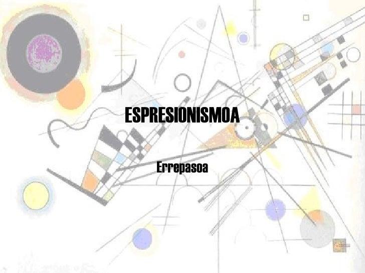 Espresionismoa
