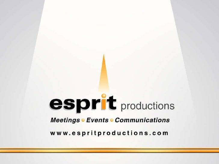 Esprit Productions Capabilities
