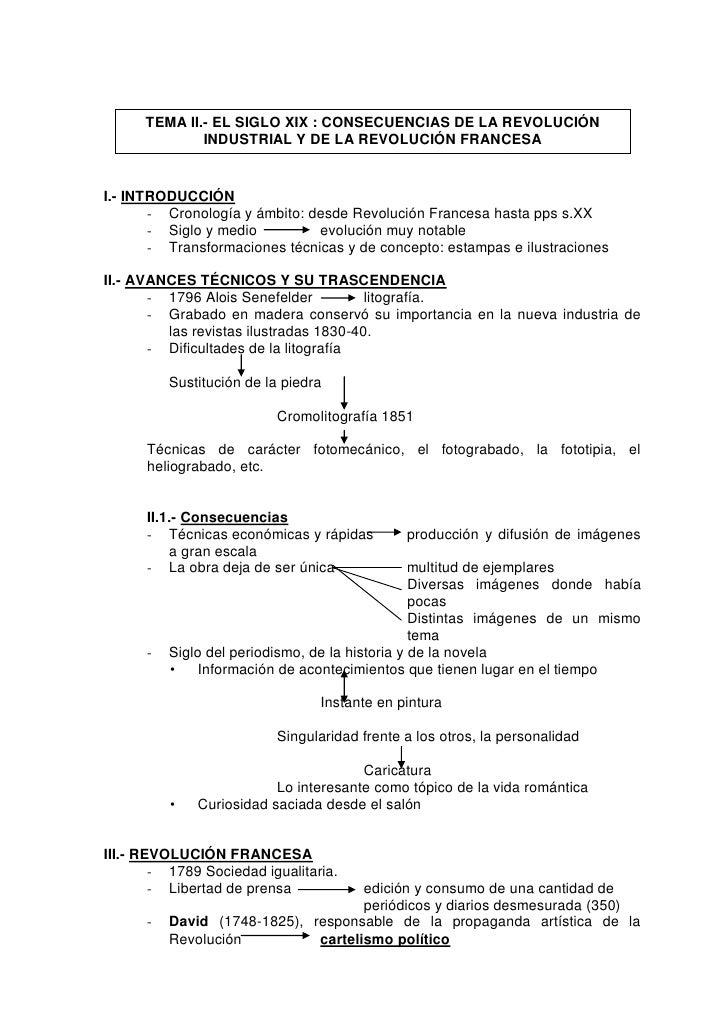 TEMA II.- EL SIGLO XIX : CONSECUENCIAS DE LA REVOLUCIÓN              INDUSTRIAL Y DE LA REVOLUCIÓN FRANCESAI.- INTRODUCCIÓ...