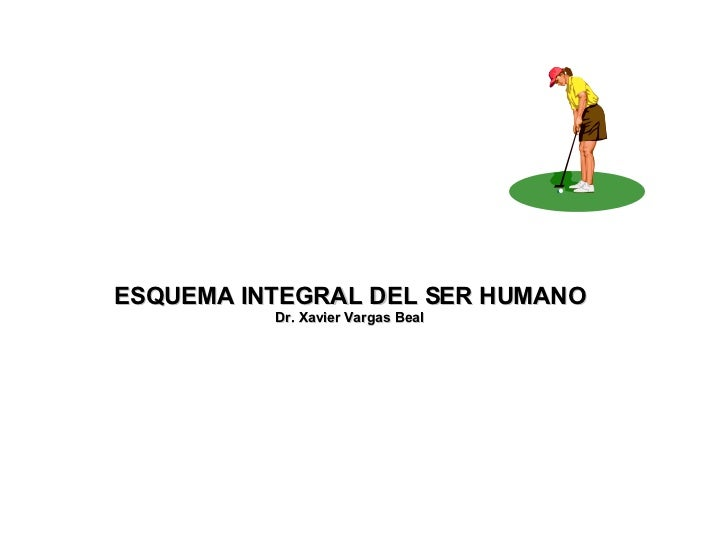 ESQUEMA INTEGRAL DEL SER HUMANO Dr. Xavier Vargas Beal