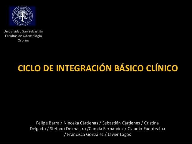 CICLO DE INTEGRACIÓN BÁSICO CLÍNICOFelipe Barra / Ninoska Cárdenas / Sebastián Cárdenas / CristinaDelgado / Stefano Delmas...