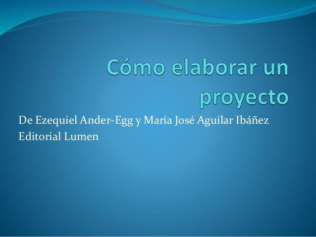 De Ezequiel Ander-Egg y María José Aguilar Ibáñez Editorial Lumen