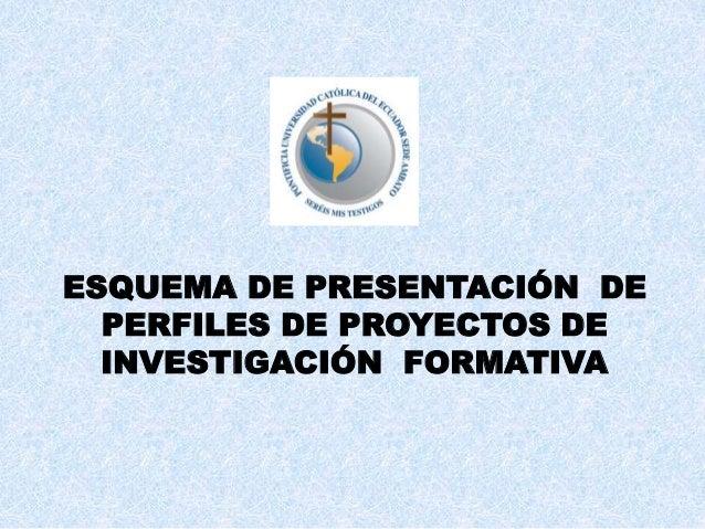 Esquema    de   presentacion   de   perfiles  de proyectos