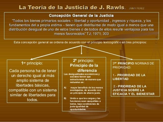 La Teoría de la Justicia de J. RawlsLa Teoría de la Justicia de J. Rawls.. JIMMY PEREZJIMMY PEREZ Concepción General de la...