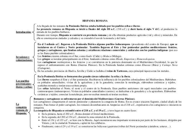 Esquema Hispania Romana