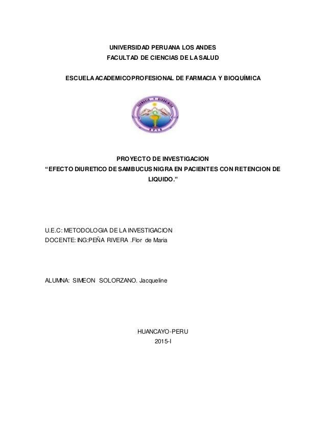 UNIVERSIDAD PERUANA LOS ANDES FACULTAD DE CIENCIAS DE LA SALUD ESCUELAACADEMICOPROFESIONAL DE FARMACIA Y BIOQUÍMICA PROYEC...