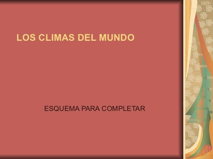Esquema poweer point los climas del mundo